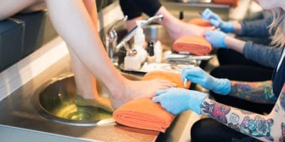 feet pedicure bath tattoo nail salon the ten spot