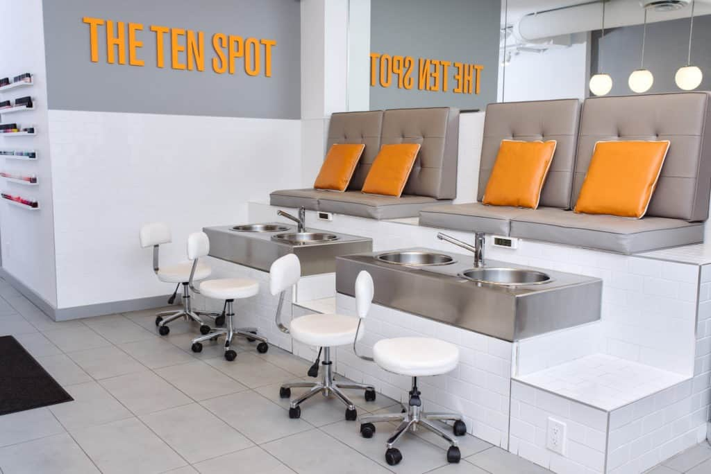 pedicure station at THE TEN SPOT® east york