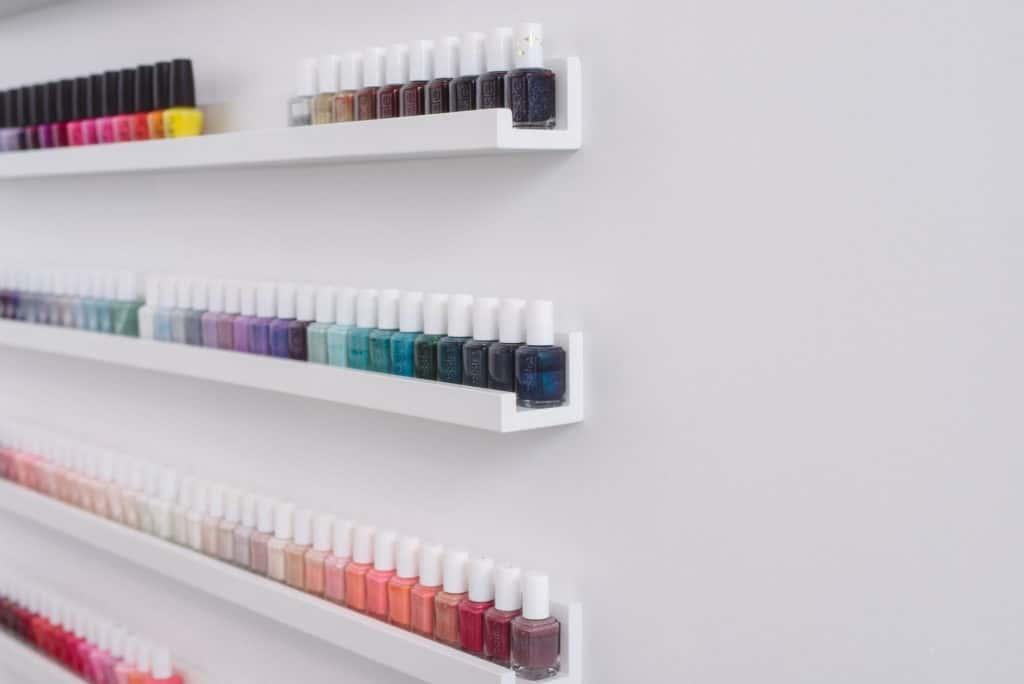 nail polish shelf at THE TEN SPOT® danforth