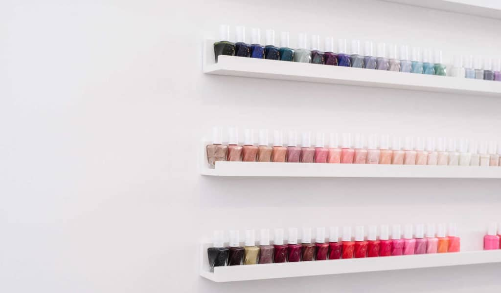 nail polish shelf at THE TEN SPOT® hamilton