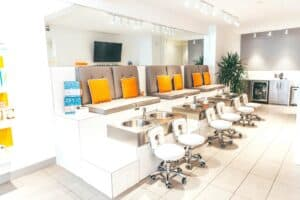 pedicure station at THE TEN SPOT® king street east